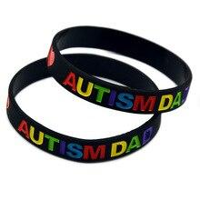 New Autism Dad and Mom Autism Warning Silicone Bracelet Soft Bracelet Bracelet все цены