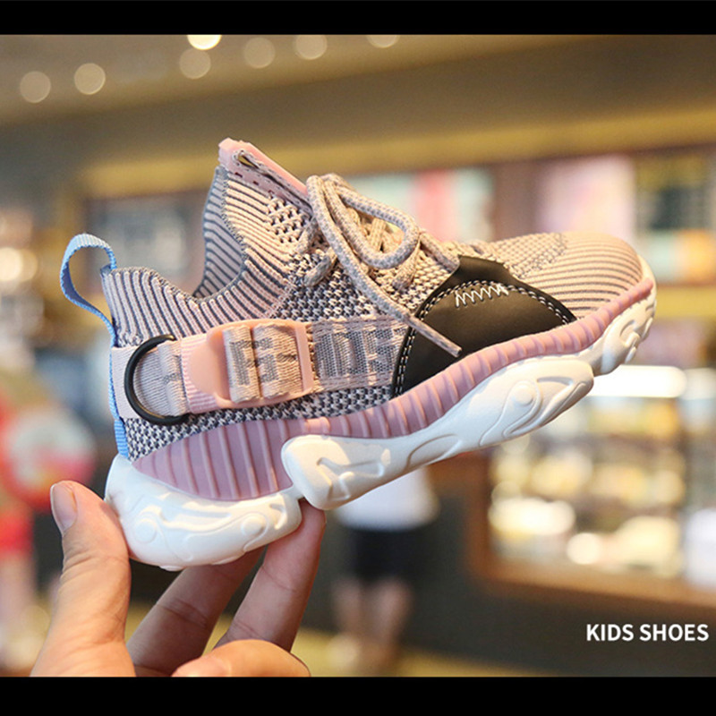 Children's Shoes 2019 Autumn New Boys Girls Sports Shoes Soft Sole  Breathable Fashion Casual Kids Sneakers Running Shoes