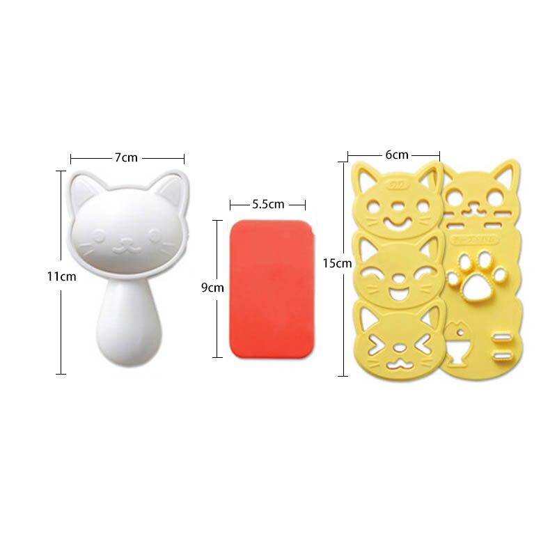 4 шт./компл. силиконовые формы милые улыбающегося кота Кухня гаджеты Портативный японский Стиль форма для приготовления бенто Пособия по кулинарии инструменты суши нори форма для риса-5
