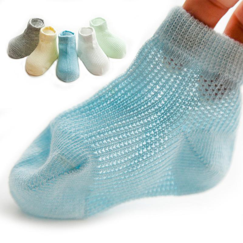 5 Pairs/lot 0-6Y Infant Baby Socks For Girls Boys Cotton Mesh Summer Cute Newborn Toddler Socks Baby Clothes Accessories