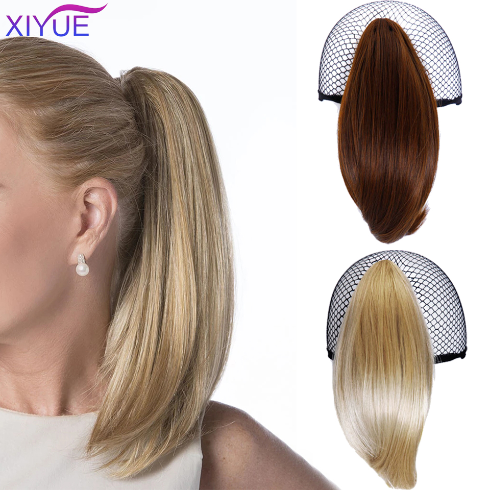 Женские короткие прямые синтетические волосы, светлые черные волосы с маленьким конским хвостом, аксессуары для волос с когтями, хвосты для...