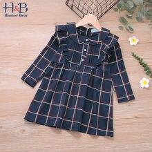 Humor bear/платье для девочек на осень зиму с круглым воротником