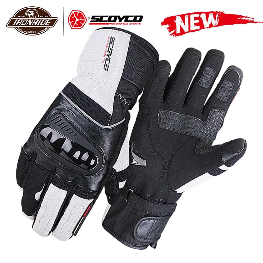 SCOYCO rękawice motocyklowe wodoodporne Guantes Moto wiatroszczelne pełne rękawiczki z ekranem dotykowym motocyklowe rękawiczki jeździeckie 3 kolor