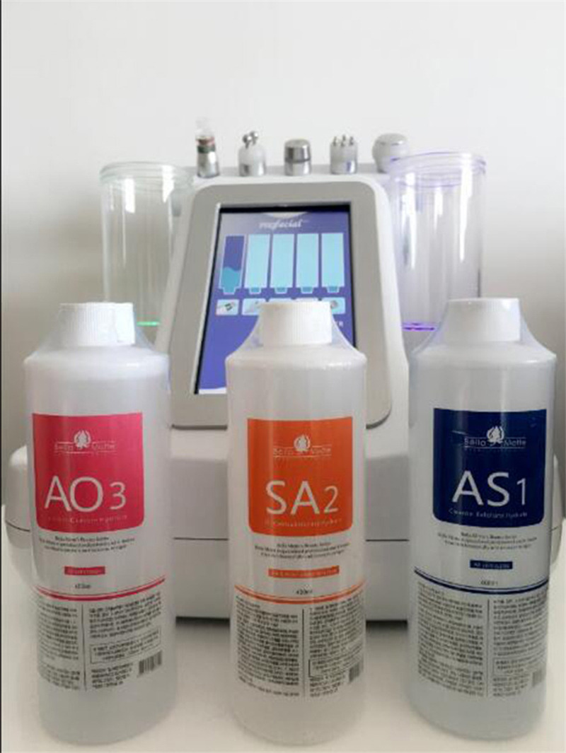 3 Bottles Aqua Peel Solution Water Jet Cleaning Solution For Moisturize Face
