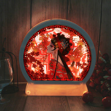 Beijing Peking Opera LED 3D stereo light paper carving lamp Color LED Chinese style gift night light Desk Light USB/AA batteries