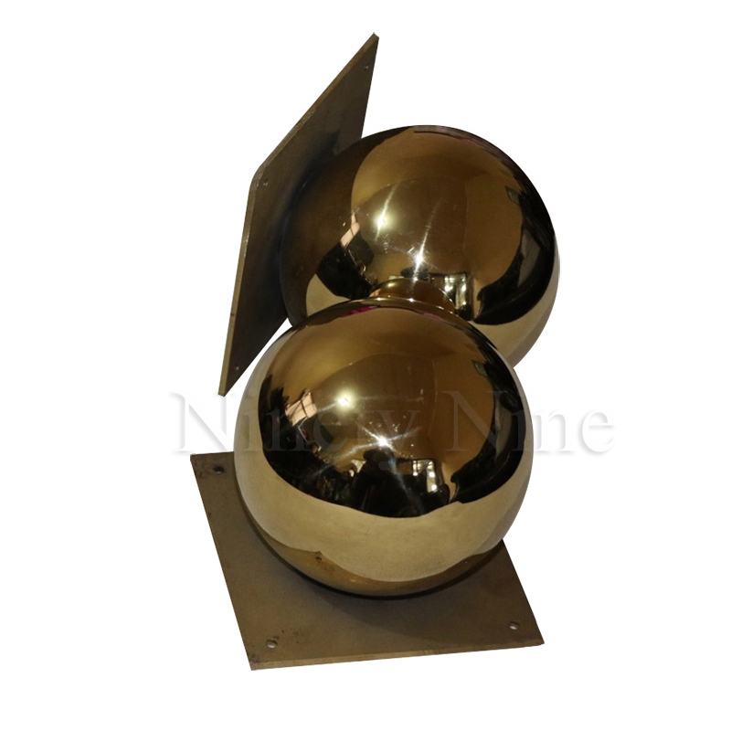 Image 4 - 2Pcs/Lot Gold Furniture TV Cabinet Sofa Ball Feet LegGolden ball sofa leg round metal hollow ball hardware feet-in Furniture Legs from Furniture