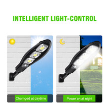 A2 LED street Night lighting Garden Lamp PIR Sensor 400Lux Solar Saving Waterproof Yard Road Fence Outdoor Lamp