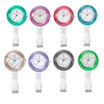 Nurse Watch Brooch Clip Infection Control Design Nurse Doctor Paramedic Brooch Fob Watch Quartz Colorful Doctor Watch