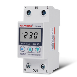 Image 4 - 63A 220 24v din レール可変電圧プロテクターリレー電流制限保護と電力計 kwh 電力量計消費電力