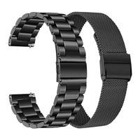 Metalen Band Voor Huawei Horloge Gt/GT2 46Mm Honor Magic 2 Smart Band Armband Roestvrij Bandjes Voor Ticwatch pro Polsband Correa