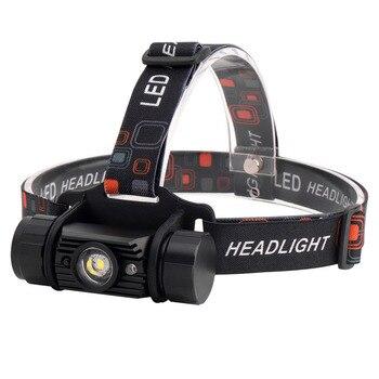 ¡Promoción! 5W Ir Sensor Mini faro Usb cargador cabeza luz lámpara 18650 batería linterna impermeable Camping caza cabeza Torc