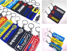 New Fashion Nuclear Launch Key Chain for Motorcycles and Cars Gifts Tag Embroidery Fobs Holder Keychain Keyring