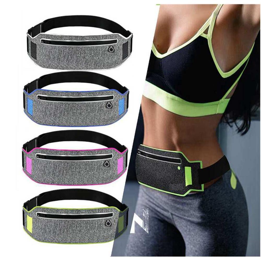 Running Waist Bag Sports Belt Bags Phone Case Men Women Jogging Bags Luminous Running Belt Waist Pack Running Aaccessories