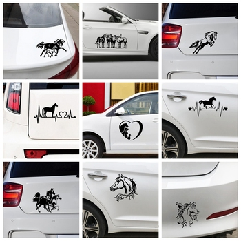 Hot Sale Horse Car Stickers and Decals Animals Car Sticker Decals Car Window Body Car Accessories Decoration Funny Wrap Vinyl for california car truck sticker decals art painting wall stickers vinyl decals car stickers