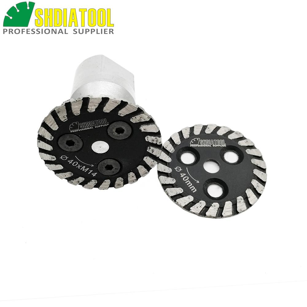 SHDIATOOL 1pc Hot Pressed Mini Diamond Engraving Saw Blade With Removable M14 Long Flange And 1pc Blade Engraver Cutting Disc