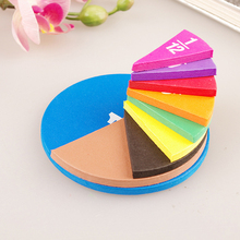 51 Piece Circular Fractions Kids Early Education Math Toy without Magnetic