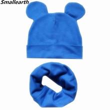 Boys Girls Cotton Solid Cap Soft Warm Cartoon Children Hat Cute Ears Design Spring Autumn Baby Kids