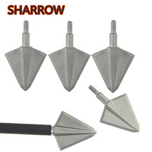 3/6/12pcs Archery Fixed 2 Blades Broadhead 136 Gr 17-4PH Solid Wide Arrowhead Head Blade For Arrow Shooting Training Accessories