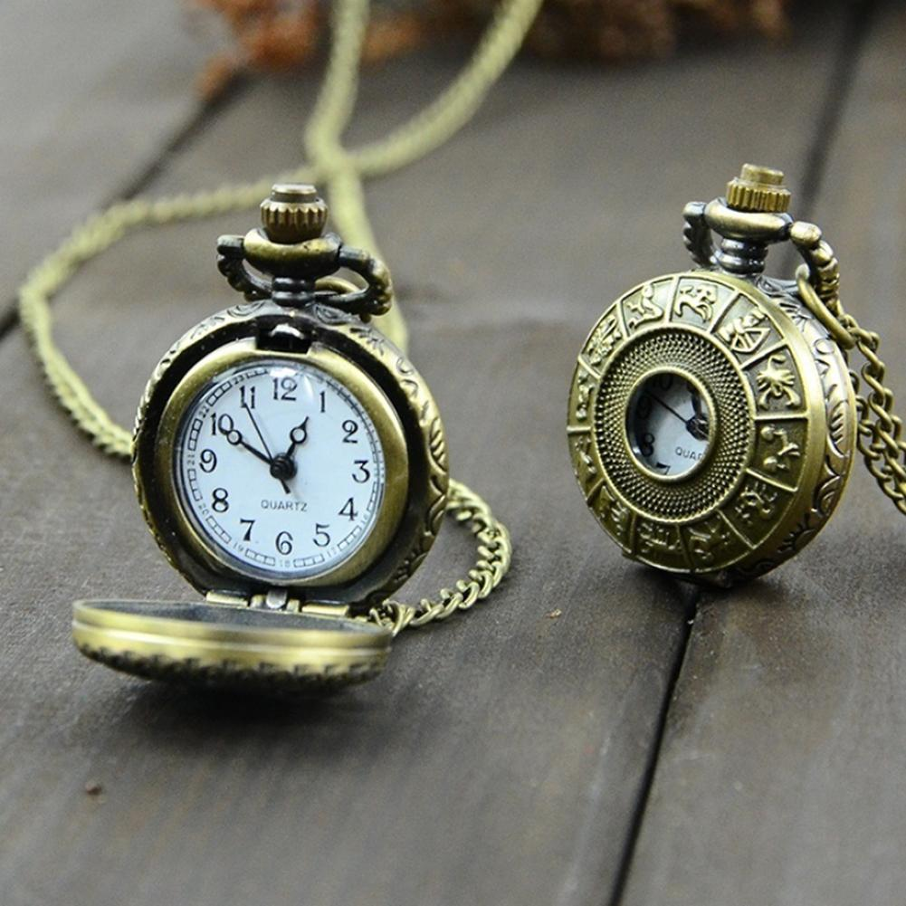 Unisex Retro Vintage Steampunk Quartz Pocket Watch Necklace Carving Pendant Chain Pocket Watch Women Men Clock карманные часы
