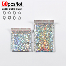 50pcs/lot Laser Bubble Mailer Poly Mailing Bags Shipping Envelopes with Packaging Envelope Mailers Padded bag