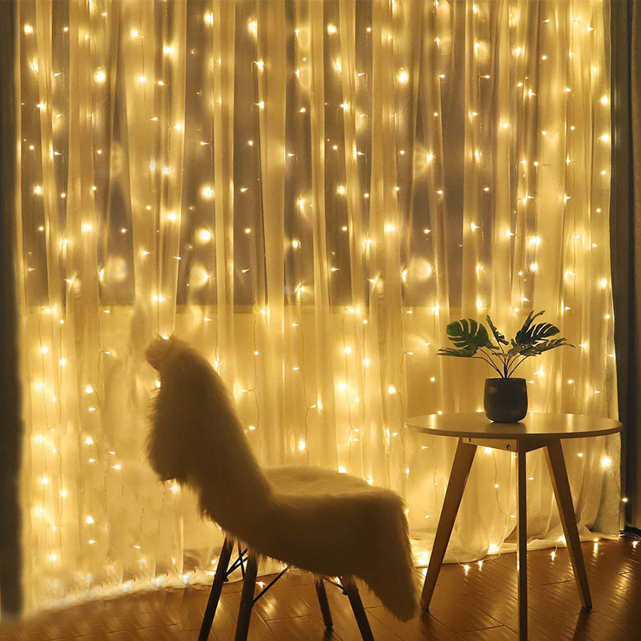 Thrisdar 3x3M 3x2M 6X3M Twinkle Star Christmas Party Curtain Icicle Garland Light Wedding Window Curtain Fairy LED String Light