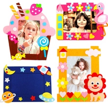 Stickers Photo-Frame Non-Woven-Picture-Frame DIY Craft-Toys Toys-Material Handmade Children
