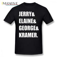 цена на Seinfeld T Shirt Seinfeld T-Shirt 100 Percent Cotton Cute Tee Shirt XXX Print Fashion Short Sleeve Man Tshirt