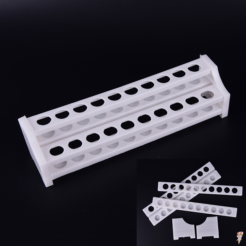 Plastic 20 Holes White Test Tube Rack For Centrifuge Tubes Laboratory Supplies Stand Shelf For School Lab Equipment