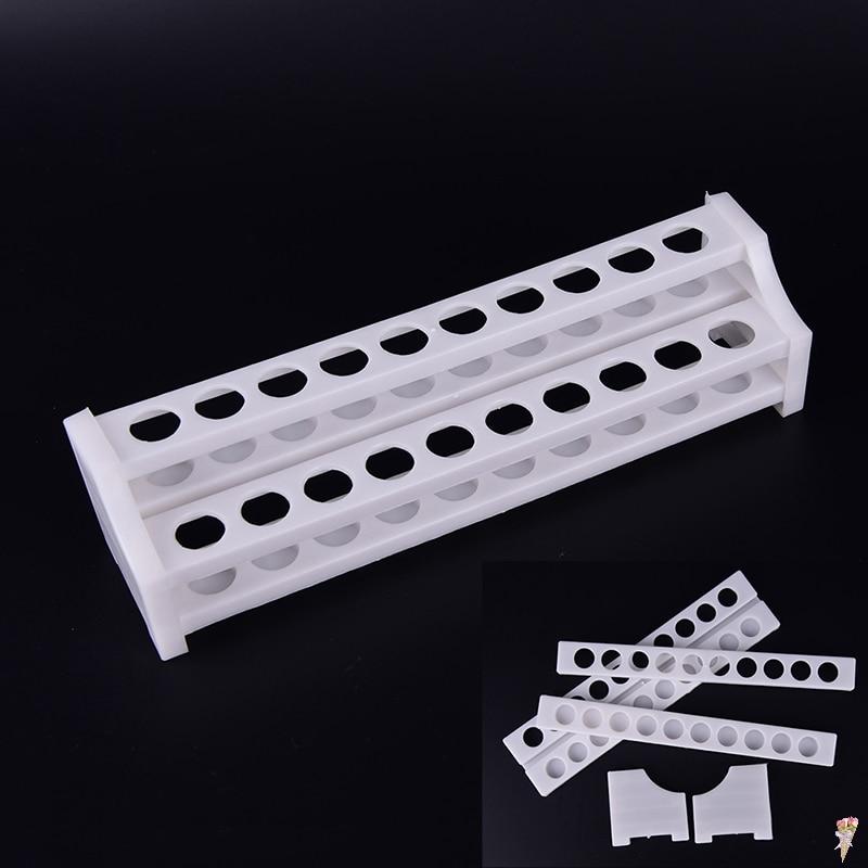 Plastic 20 Holes White Test Tube Rack For Centrifuge Tubes Laboratory Supplies Stand Shelf For School Lab Equipment