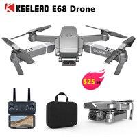 E68 드론 4K 와이드 앵글 안정 카메라 드론 프로페셔널 1080P FPV 하이 홀드 모드 미니 접이식 RC 쿼드 콥터 VS M69G E58 dron-에서카메라 드론부터 가전제품 의