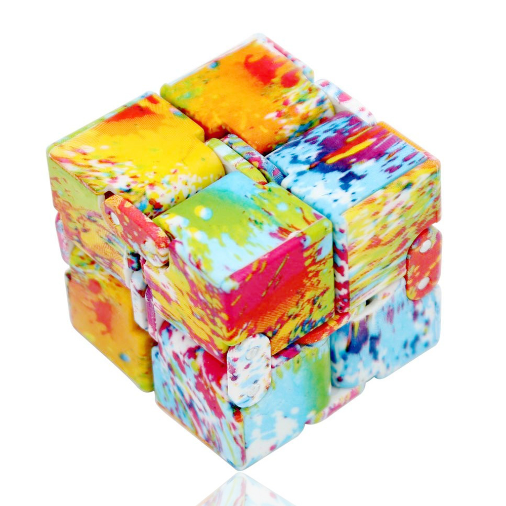 In Stock! Finger Cube Infinite Flip Pocket Cube Decompression Dice Fingertip Adult Children's Educational Vent Decompression Toy