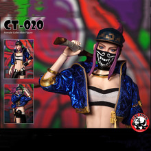 CAT TOYS CT020 In Stock 1/6 Scale Fashion Girl Female Girl Akali Action Figure Full Set   Action Figure Model for Fans Gifts 1 6 pl2016 85 female hunter huntress arhian full set action figure models collections