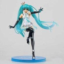 Anime Hatsune Miku Racing Girl Ver PVC Action Figure Collectible Model doll toy 22cm super sonico racing girl ver sexy anime figure maxfactory mf pvc action figure collectible model toys super orbital girls band