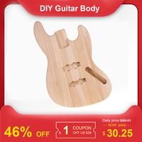 Muslady JB T02 Unfinished Guitar Body DIY Parts Platane Wood Blank Guitar Barrel for JB Style Bass Guitars Guitar Accessories