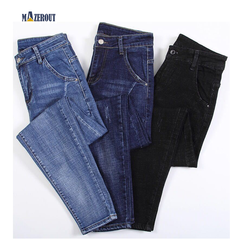 MAZEROUT Women Streetwear Pleated Mom Jeans High Waist Loose Slouchy Jeans Pockets Boyfriend Pants Casual Ladies Denim Trousers