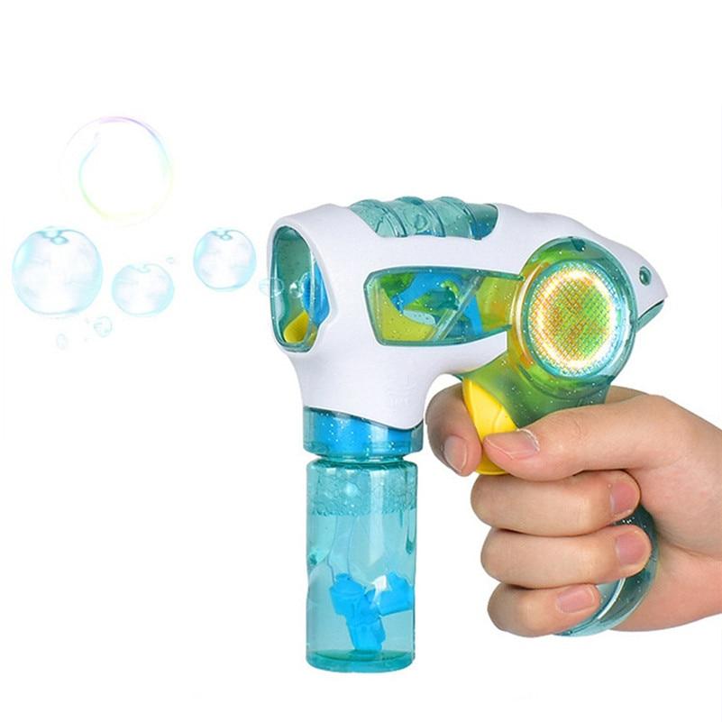 Bubble Gun Water Blowing  Flashing Light Up Children Bubble Summer Swimming Machine  Kids  Outdoor Kids Child Toys