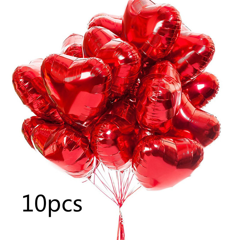 10 шт., фольгированные воздушные шары, 18 дюймов