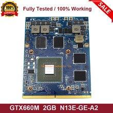 Original GTX 660M GTX660M 2GB Grafik Video VGA GPU Karte Für DELL M15X M17X M18X N13E-GE-A2 Vollständig Getestet schnelle Versand