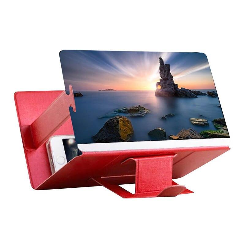 Universal Mobile Phone Amplificador de Vídeo HD Tela 3D Estande Lupa I Titular do telefone Titular Suporte de Transporte da gota