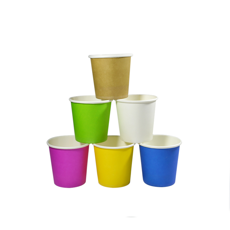 4oz 100ml Disposable Small Paper Cup mini dessert cups Solid Color Home Garden Paper Cups Disposable Cups Disposable Coffee Cups