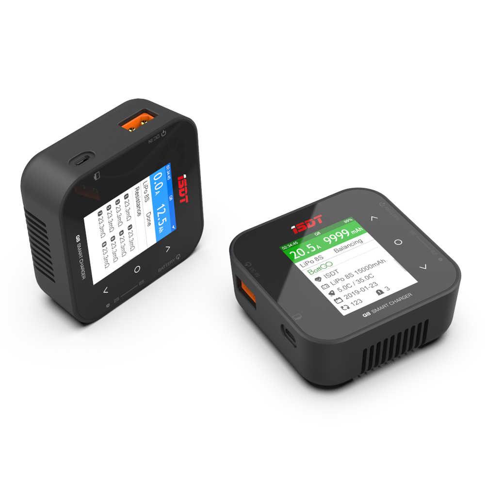ISDT Q8 500W 20A 2-8S / Q8 MAX 1000W / Q6 Nano 200W 8A 1-6S Lipo Battery Balance Charger untuk Lilon LiPo LiHV NiMH Pb Model RC