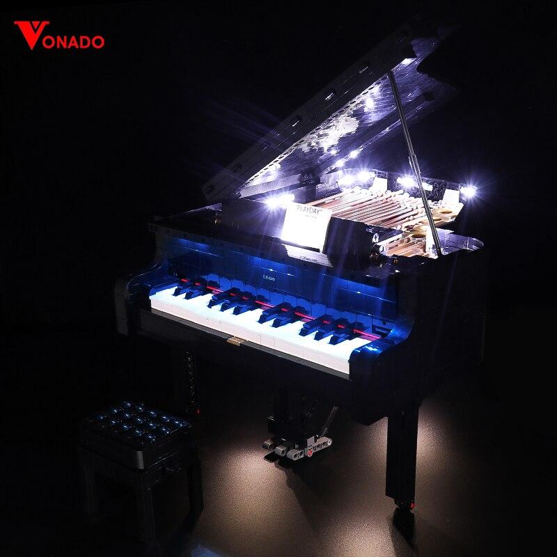 Led Lighting Kit for 21323 Grand Piano building block model decorate kids Blocks toys gift (LED Lighting set only, No Blocks)