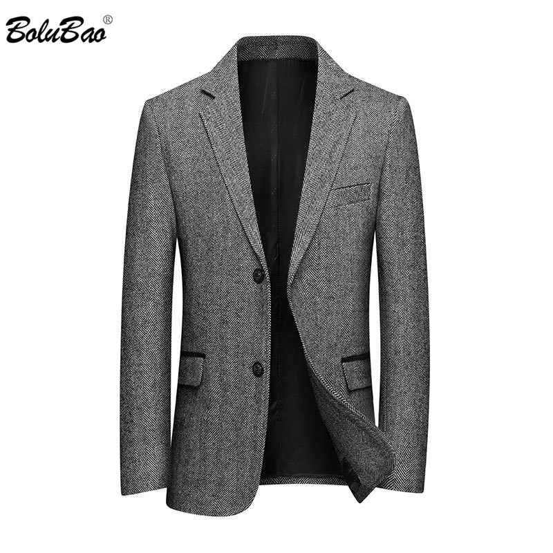 BOLUBAO Brand Men Casual Blazer Men's Single Breasted Luxurious Business Suits Male Solid Color Wool Blazers Clothing