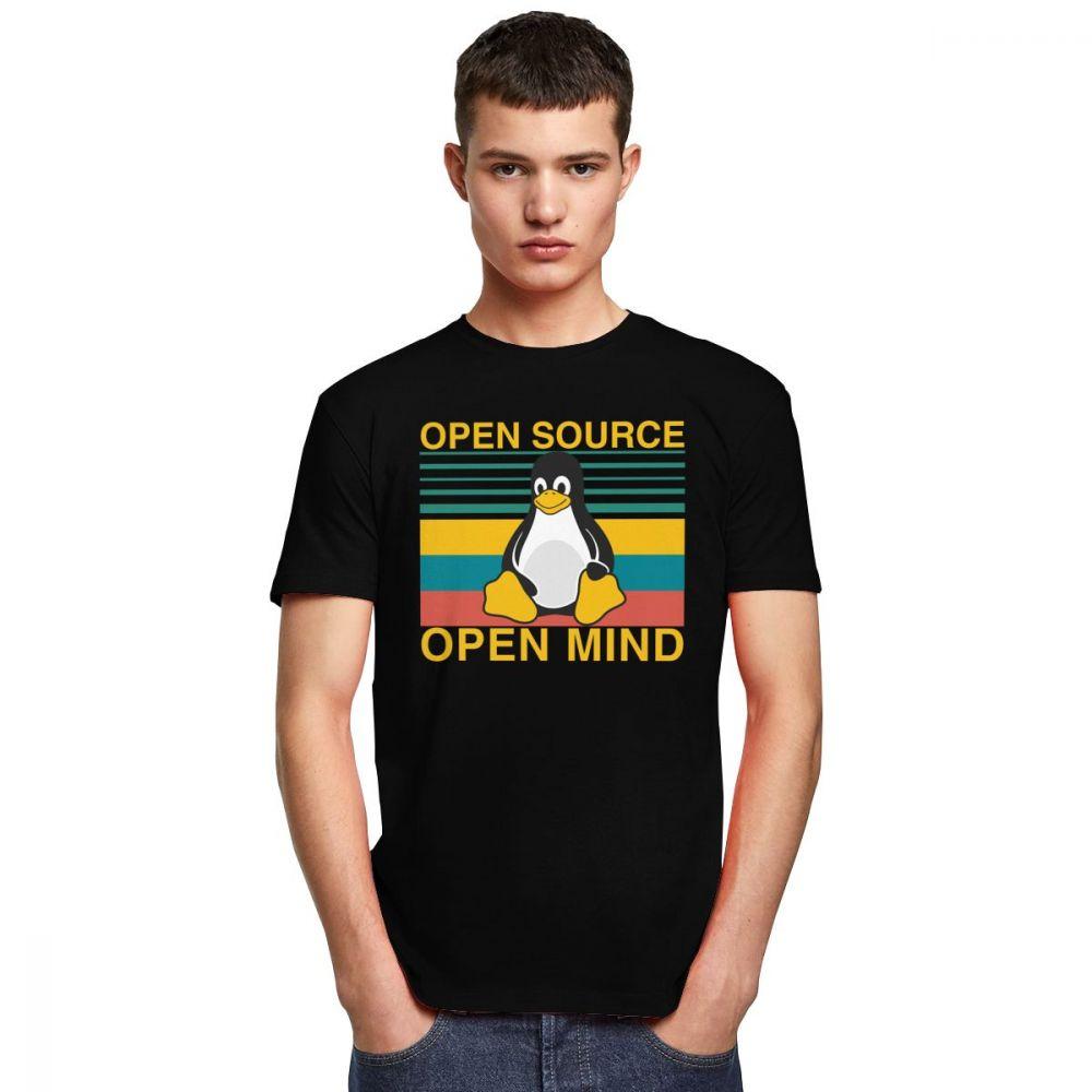 T-shirt Geek Vintage Linux Open Source Créer Son T Shirt