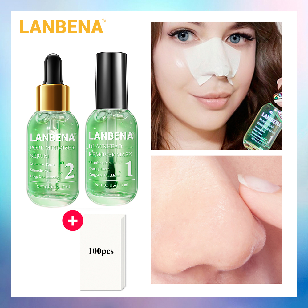 LANBENA New Style Face Mack Facial Serum Blackhead Remover Deep Cleaning Black Mask Shrink Pores Smoothing Essence Skin Care