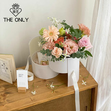 Caixa de flor de dupla camada rodada criativo 1 segurando a mão caixa de presente DO PVC transparente janela caixa de presente Dia Dos Namorados
