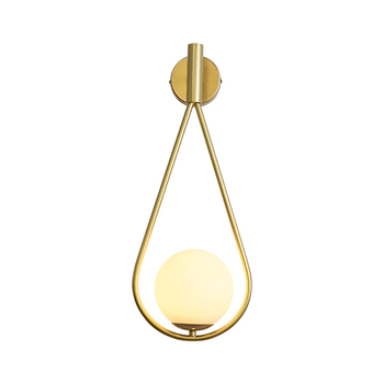 Nordic creative living room metal wall lamp fashion modern minimalist bedroom bedside lighting aisle wall lamp background wall l nordic simple living room wall lamp bedroom bedside lighting creative aisle background crystal glass wall sconce light fixture