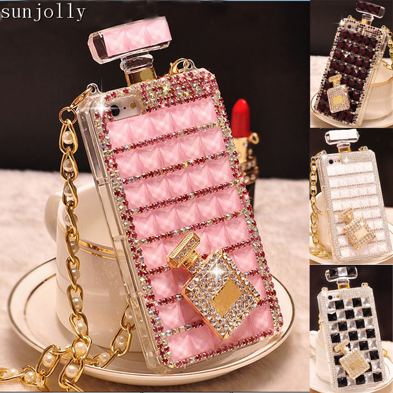 Lyx 3D Diamond Case TPU Rhinestone Bling Cover Diamante Coque Capa för iPhone 11 Pro Max X XS MAX XR 6 / 6s 8/7 Plus 5S SE 5C
