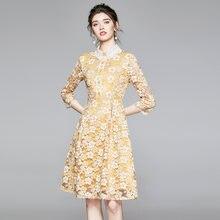 Женское элегантное кружевное платье zuoman винтажное дизайнерское