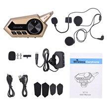 Docooler BT18 Motorhelm Headset Motor Draadloze Bluetooth 5.0 Hoofdtelefoon Met Microfoon Ondersteunt Automatisch Antwoordapparaat